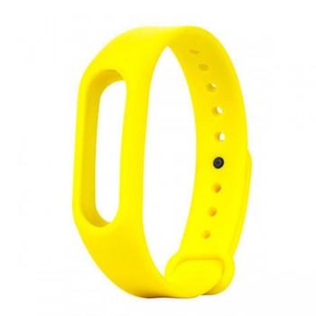 Силиконовый ремешок для Xiaomi Mi Band 3 Желтый
