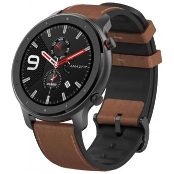 Часы Amazfit GTR 47mm aluminium case, leather strap