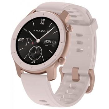 Часы Amazfit GTR 42mm aluminium case, silicone strap Розовые